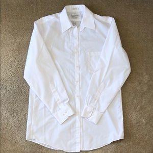 Van Heusen White Button Down Dress Shirt 15 32/33